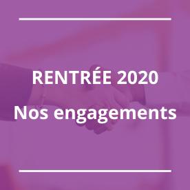 Nos engagements pour la rentrée 2020