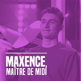 Maxence, étudiant en Management de l'Innovation et maître de midi