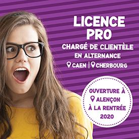 Ouverture de la licence pro Chargé de clientèle à Alençon !