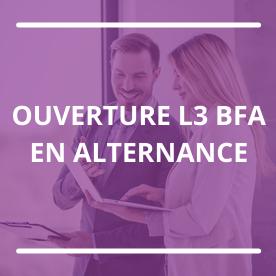 Ouverture de la L3 Banque, Finance, Assurance, en alternance.